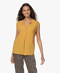 by-bar Star Viscose Crêpe Top - Straw