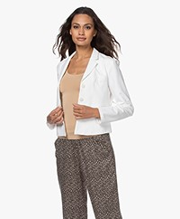no man's land Cotton Jersey Blazer - White