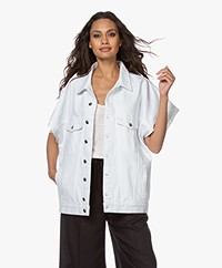 IRO Rungis Oversized Short Sleeve Jacket - White