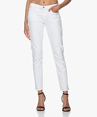 FRAME Le Garcon Girlfriend Jeans - White