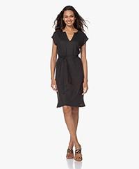 by-bar Sofie Linen Jersey Dress  - Jet Black