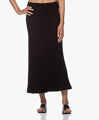 Filippa K Fay Rib Knit Midi Skirt - Black