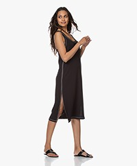 Rag & Bone Marlon French Terry Tank Dress - Black
