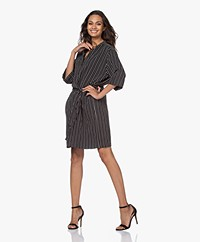 studio .ruig Joessef Striped Viscose Twill Dress - Black/White