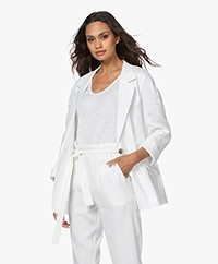 Resort Finest Laura Pure Linen Blazer - White