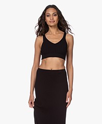 Filippa K Fay Rib Knit Crop Top - Black
