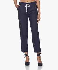 Drykorn Level Linen Loose-fit Pants - Dark Blue