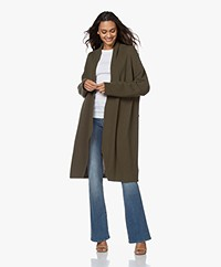 Woman by Earn Jil Cotton Open Cardigan - Army