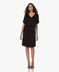 studio .ruig Jep Jersey Dress with Leather Belt - Black