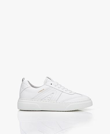 Copenhagen Studios Leather Platform Sneakers  -White