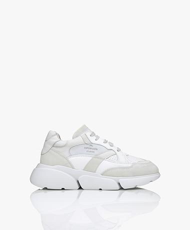 Copenhagen Studios Chunky Platform Leather Sneakers - White