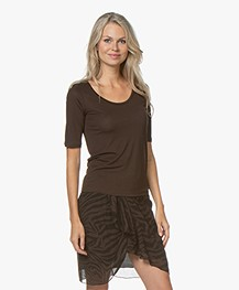 Filippa K Tencel Scoop Neck Tee - Fondant
