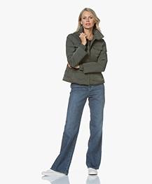 Filippa K Cotton Stretch Scoop Neck T-Shirt - Grey Melange