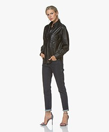 Zadig & Voltaire Tais Leather Shirt - Black
