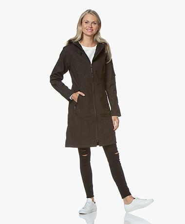 Ilse Jacobsen Long Softshell Raincoat Rain37L - Black