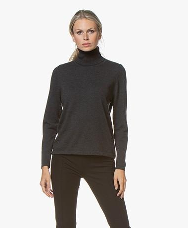 Sibin/Linnebjerg Lisa Turtleneck Sweater in Merino Wool - Anthracite