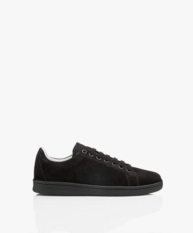 Filippa K Alice Suede Leather Sneakers - Black