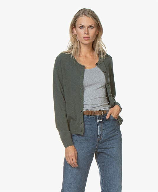 Closed Wool and Cashmere Cardigan - Caper Green