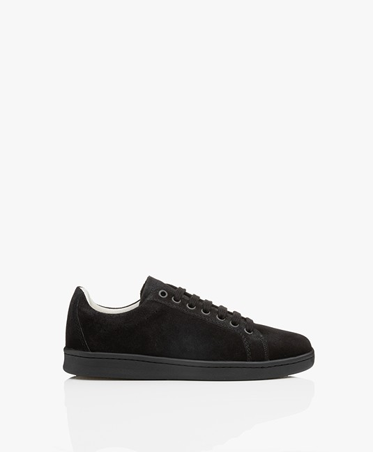 Filippa K Alice Suède Leren Sneakers - Zwart