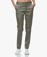 Closed Jack Satijnen Pantalon - Caper Green