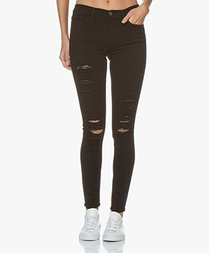 FRAME Le Color Ripped Jean - Film Noir