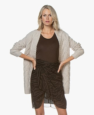 IRO Air Lattice Knit Wool Cardigan - Natural
