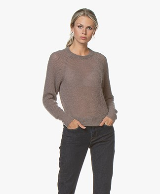 Filippa K Mohair R-neck Sweater - Dark Taupe