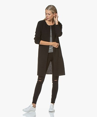 Sibin/Linnebjerg Mary Merino Blend Open Cardigan - Black