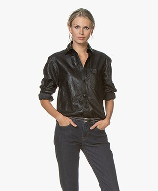 Zadig & Voltaire Tais Leather Shirt - Black