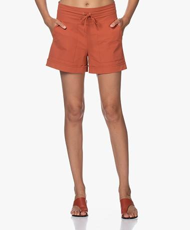 JapanTKY Kogi Travel Jersey Utility Shorts - Backed Clay