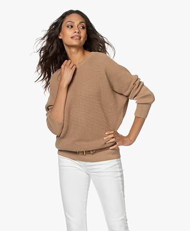 Sibin/Linnebjerg Joy Merino Blend Sweater - Camel