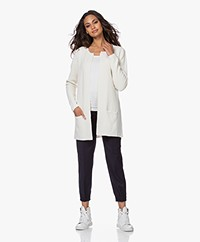 Sibin/Linnebjerg Mary Short Cardigan in Merino Blend - Off-white