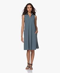 JapanTKY Lyame Sleeveless Travel Jersey Dress - Squalo