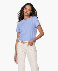 American Vintage Vegiflower Organic Cotton T-shirt - Celestial