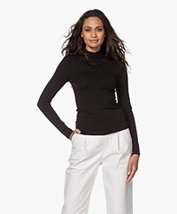 IRO Doria Stretch-viscose Long Sleeve - Black