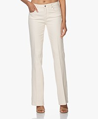 Vanessa Bruno Hector Flared Stretch Jeans - Ecru