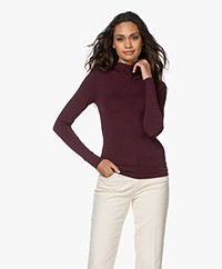 IRO Doria Stretch-viscose Long Sleeve - Burgundy