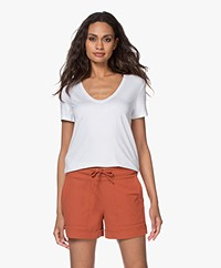 By Malene Birger Fevia Viscose T-shirt - White