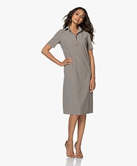 JapanTKY Phyn Travel Jersey Polo Dress - Olive