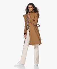 Drykorn Cavers Knee-length Wool Blend Coat - Camel