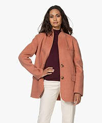 Vanessa Bruno Jovanka Wool Blend Blazer Coat - Rose