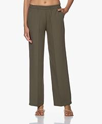 LaSalle Loose-fit Pantalon met Rechte Pijpen - Groen