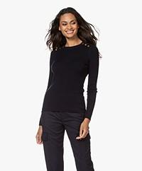 Vanessa Bruno Petunia Fine Knitted Sweater - Marine