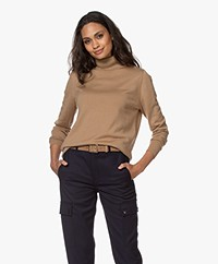 Sibin/Linnebjerg Lisa Turtleneck Sweater in Merino Wool - Camel