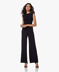 Norma Kamali Sleeveless Travel Jersey Jumpsuit - Midnight