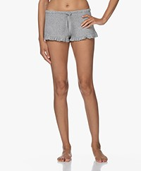 Skin Raffaela Ribbed Jersey Shorts - Heather Grey