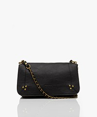 Jerome Dreyfuss Bobi Shoulder/Cross-body Bag in Goatskin - Black/Vintage Gold