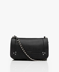 Jerome Dreyfuss Bobi Shoulder/Cross-body Bag in Lambskin - Black/Silver
