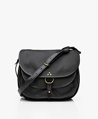 Jerome Dreyfuss Felix L Saddle Shoulder/Cross-body Bag - Black/Vintage Gold