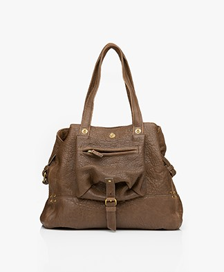Jerome Dreyfuss Billy M Lambskin Tote - Bronze
